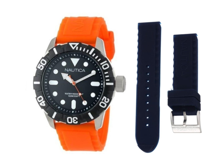 Ανδρικό Ρολόι Nautica NSR 100 Box Set Μαύρο (A11602G)  05bc0f38b09