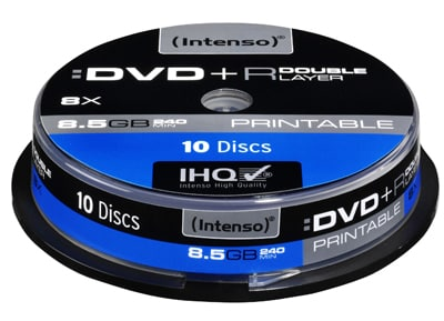 Intenso DVD+R DL 8x 8.5GB 240min Printable - Cake 10 τεμ - Μέσο αποθήκευσης