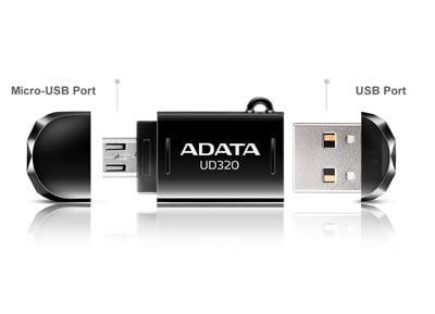 Micro USB stick Adata DashDrive Durable 32GB 2.0 UD320 Μαύρο