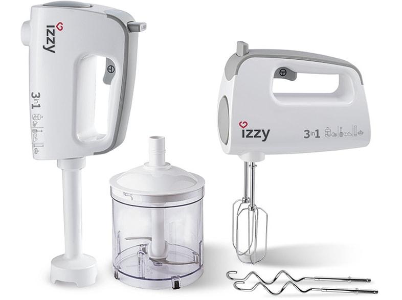 IZZY Μίξερ Χειρός IZ-1001 3 σε 1 400W