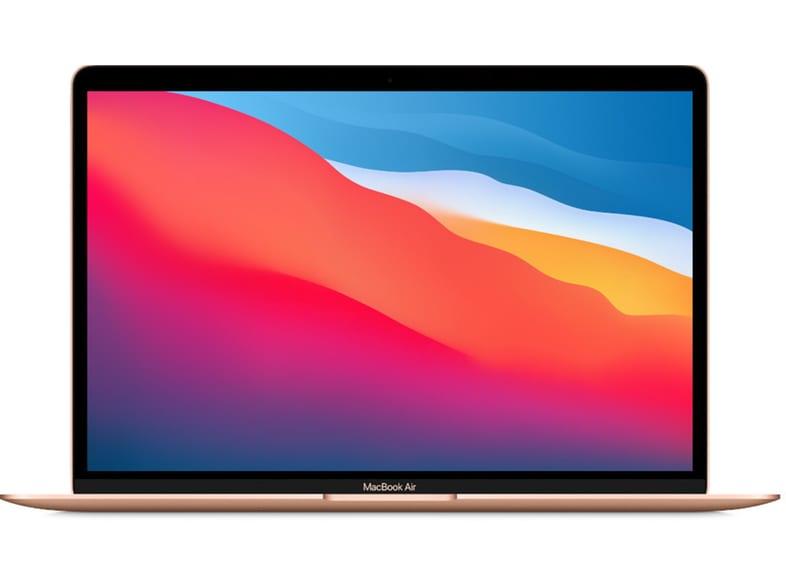 APPLE MacBook Air 13 M1/7C/8/512 - Gold με 2 έτη εγγύηση