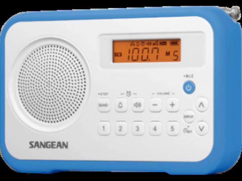 SANGEAN PR-D18 White/Blue