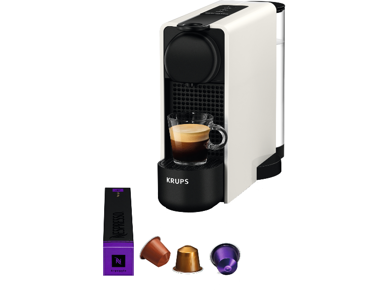 KRUPS Nespresso® Essenza Plus με Aeroccino Καφετιέρα XN5111S White
