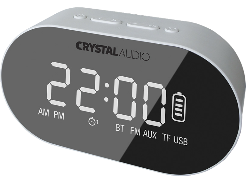 CRYSTAL AUDIO BTC1W BT Speaker Alarm Clock Λευκό