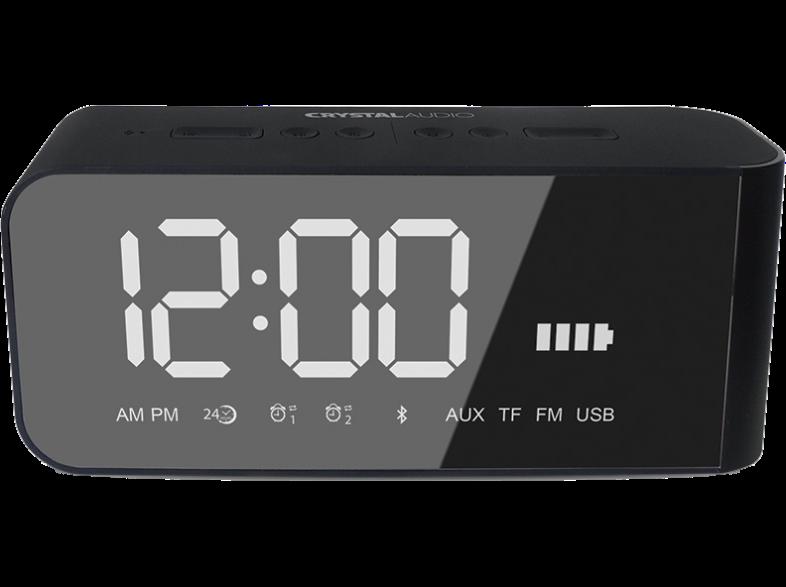 CRYSTAL AUDIO BTV2K BT Speaker Alarm Clock Μαύρο