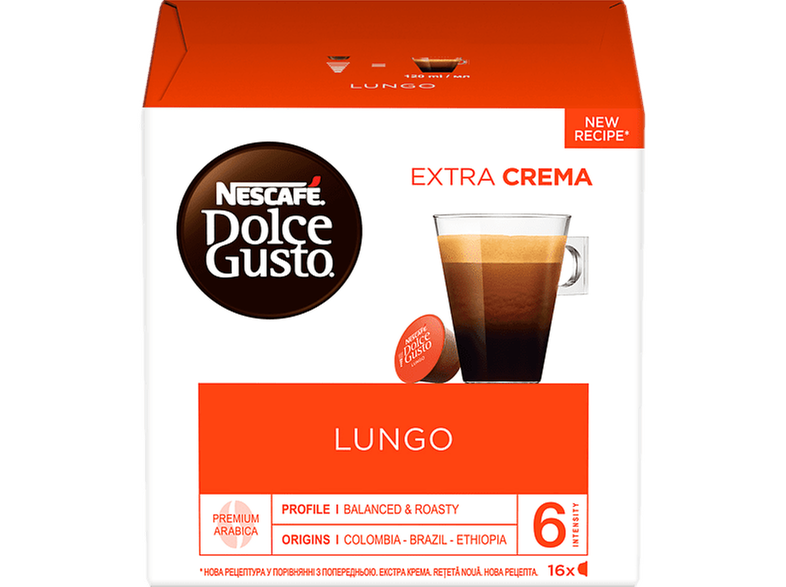 DOLCE GUSTO 12423314 NDG LUNGO 16CAP 6X104G