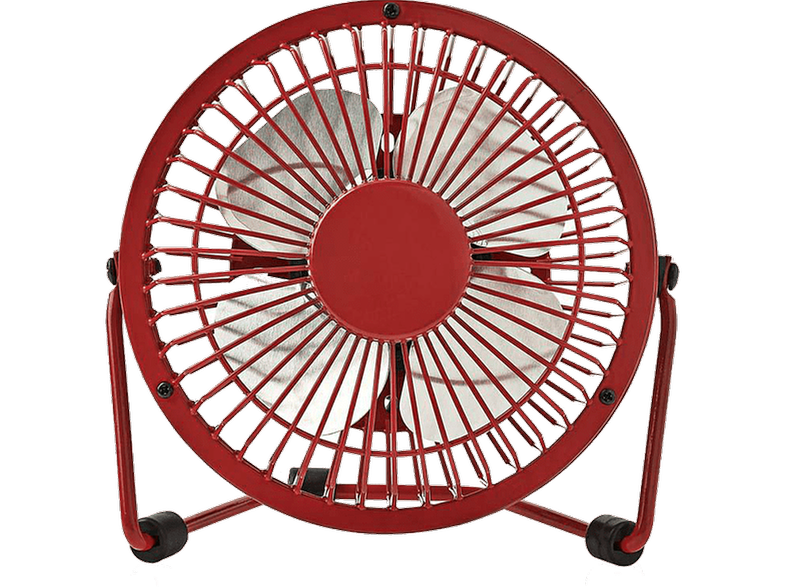 NEDIS 233-1680 Μετταλικός Mini USB Ανεμιστήρας Red
