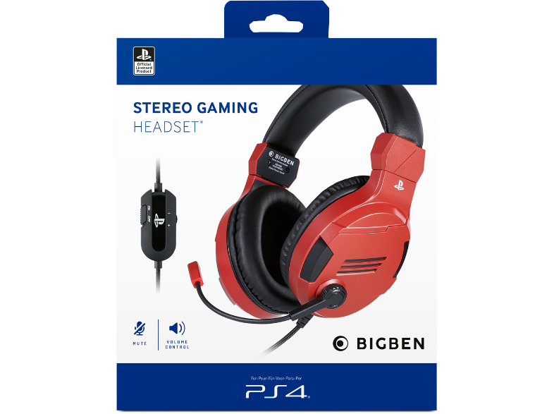 PS4 OFFICIAL LICENCE HEADSET V.3 RED